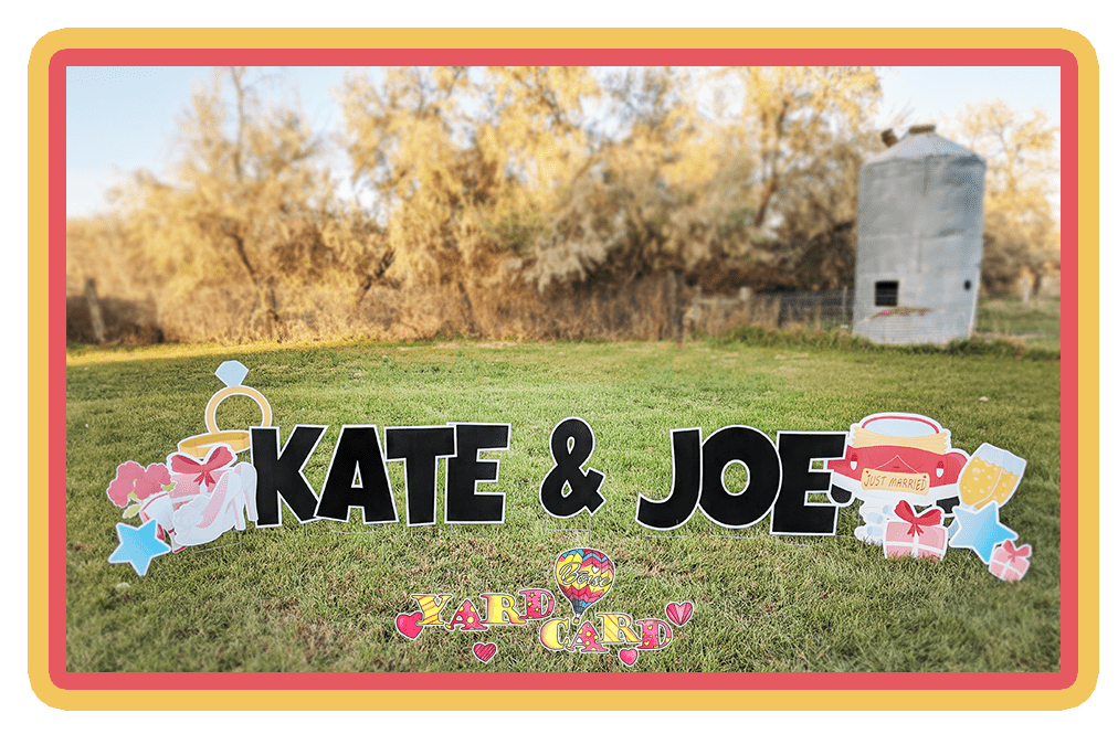 Just married lawn greeting Boise Yard Card