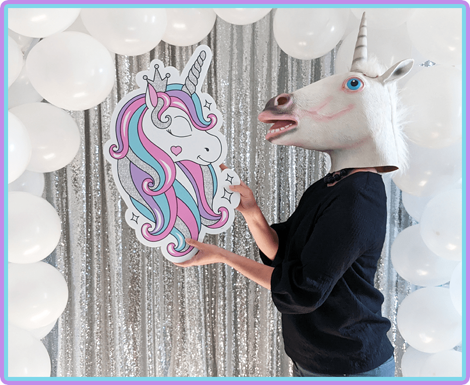Unicorn lover Boise Yard Cards rental Accent for lawn greeting